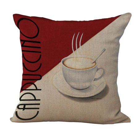 Joyfeel Clearance Cotton Linen Red Wine Jazz Cushion Cover Square Pillow Cover Throw Pillow - Wine Presentation Case