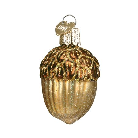 Acorn Glass Blown Ornament, Hand crafted in age-old tradition using techniques that originated in the 1800's By Old World Christmas (Glass Ornaments For Crafts)
