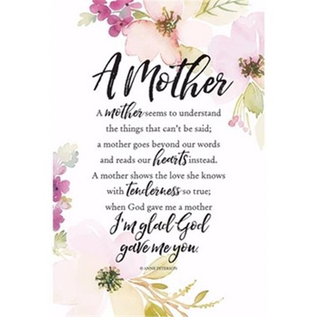 Dexsa 13421X 6 x 9 in. Plaque-Woodland Grace-A Mother Seems - image 1 de 1