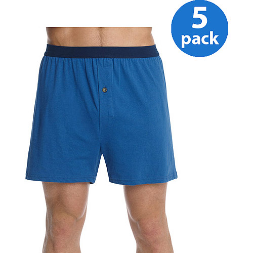 Hanes Big Men's FreshIQ ComfortSoft Waistband Knit Boxer 5-Pack