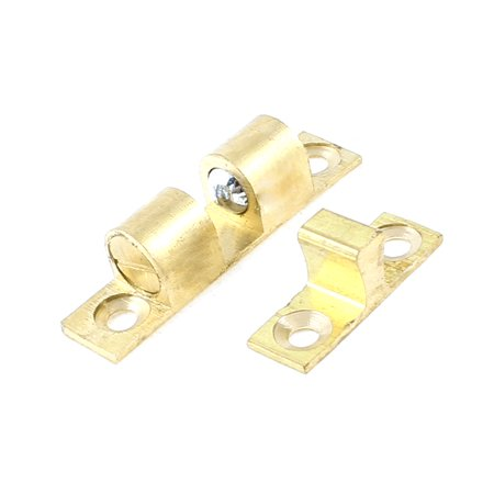 Bass Double Ball (Unique Bargains Cupbbord Cabinet Door 40mm Long Gold Tone Brass Double Ball Catch )