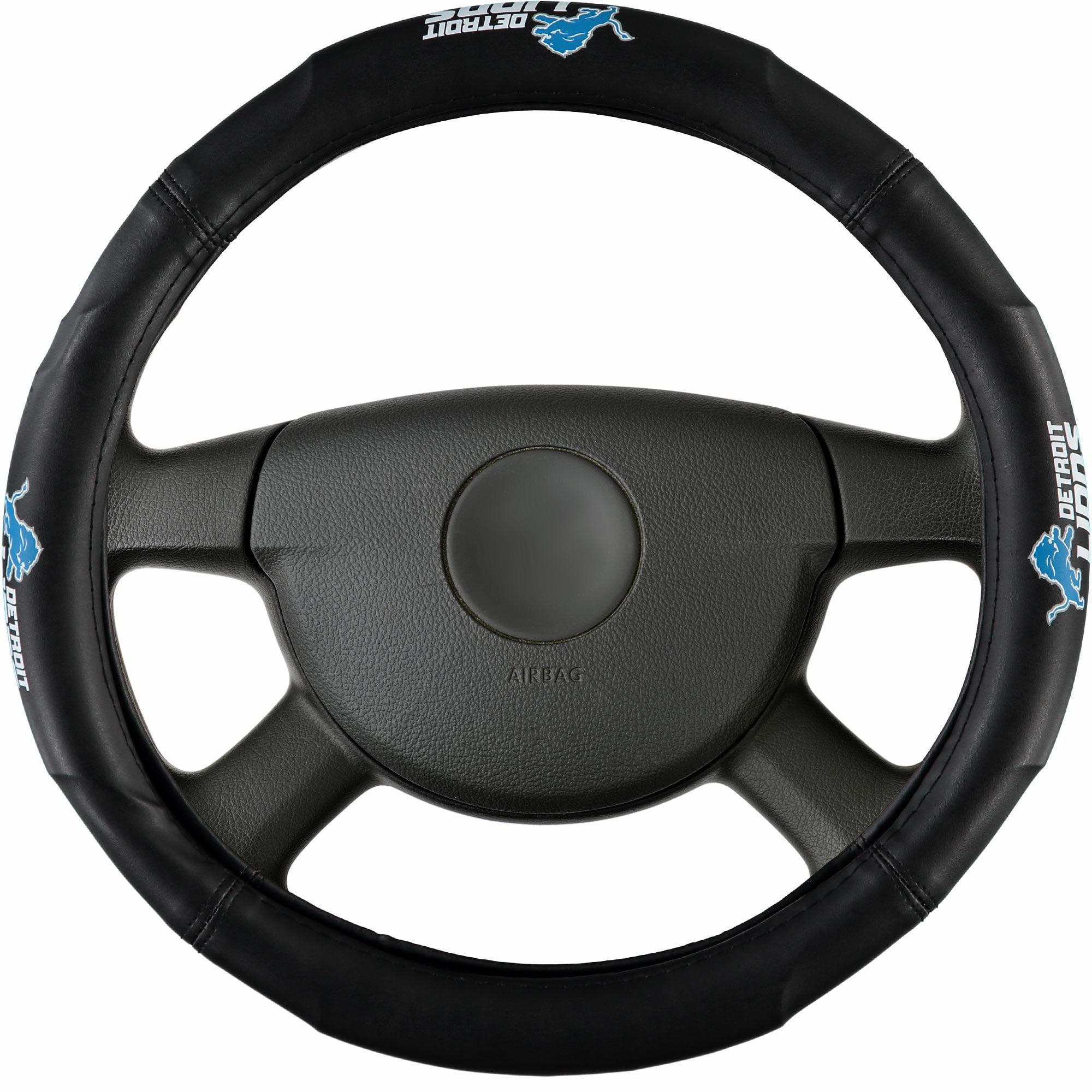 Detroit Lions Steering Wheel Cover - Black - No Size