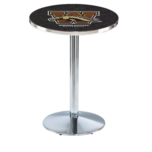 NCAA Pub Table by Holland Bar Stool, Chrome - WMU Broncos, 42'' - L214