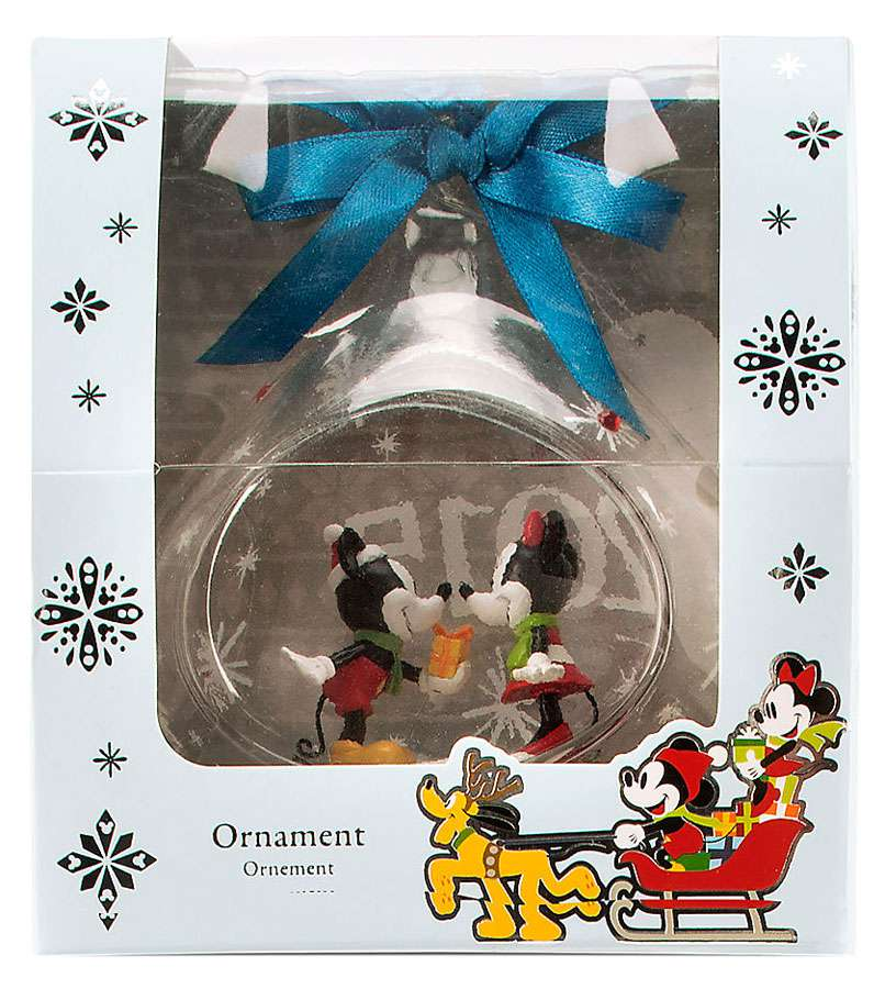 Disney Mickey Mouse Mickey & Minnie Mouse Glass Drop Sketchbook Ornament [2015]