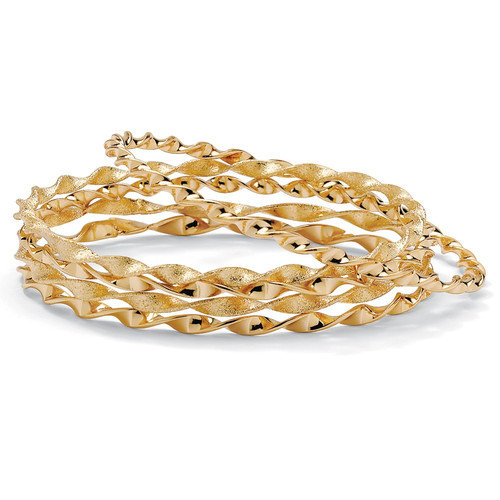Palm Beach Jewelry Bangle Bracelets (Set of 5)