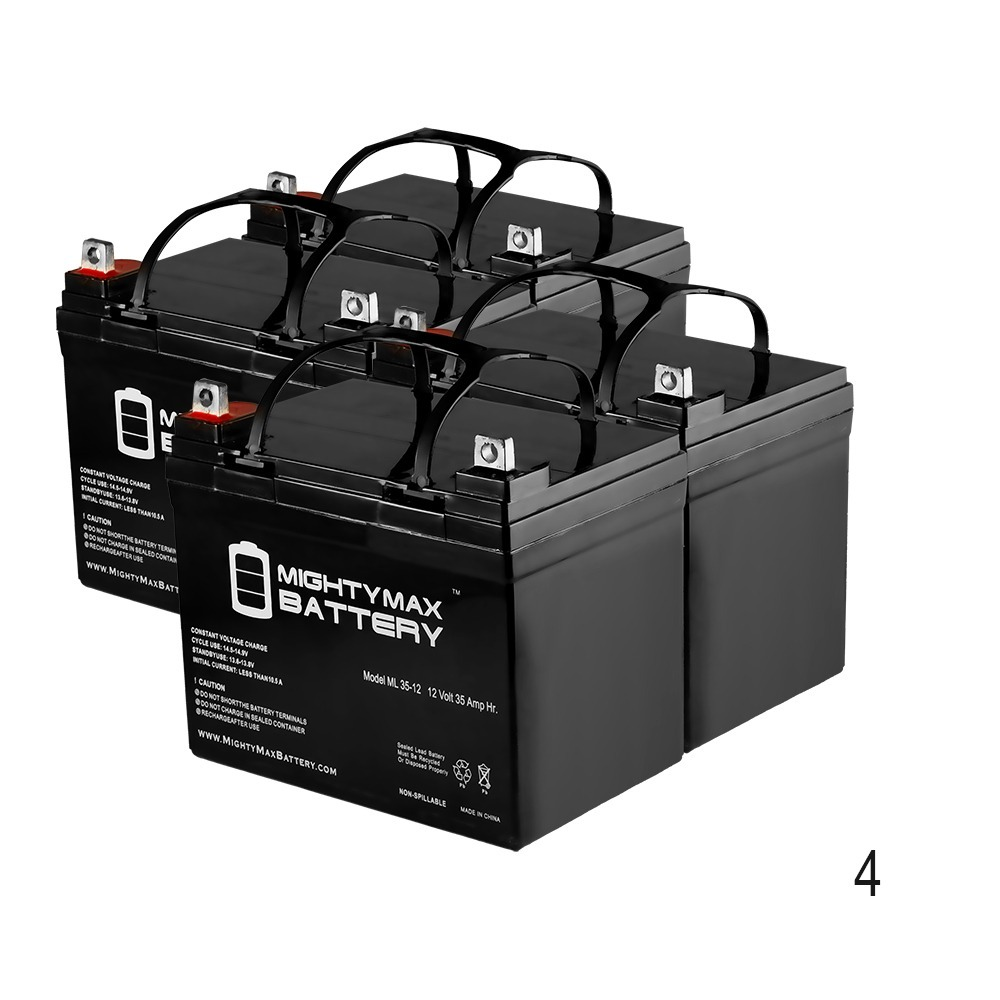 ML35-12 - 12V 35AH SLA Battery for ELECTRIC MOBILITY BUTLER WHEELCHAIR - 4 Pack