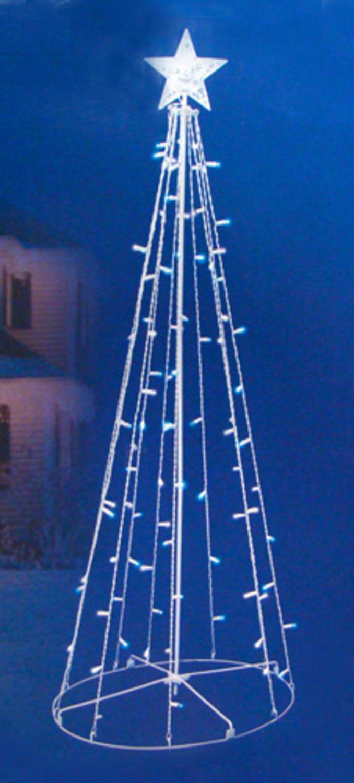 5u0027 Blue U0026 White LED Lighted Outdoor Twinkling Christmas Tree Yard Art  Decoration   Walmart.com