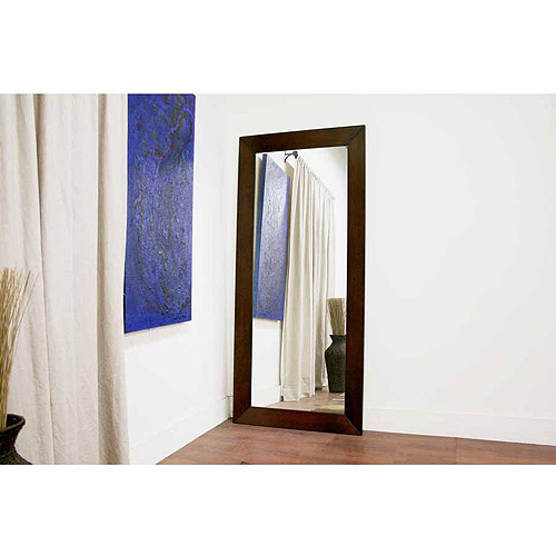 Baxton Studio Doniea Rectangle Wood Frame Modern Mirror, Dark Brown