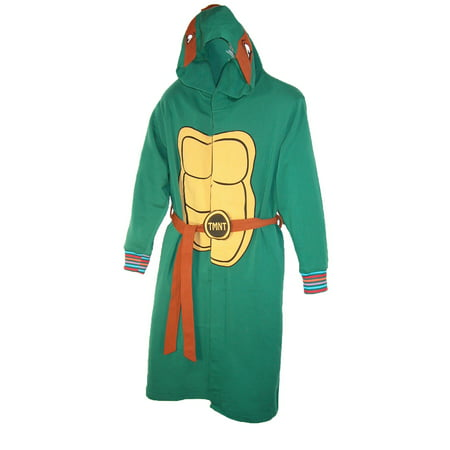 Mens Green Hooded Costume House Coat Bath Robe