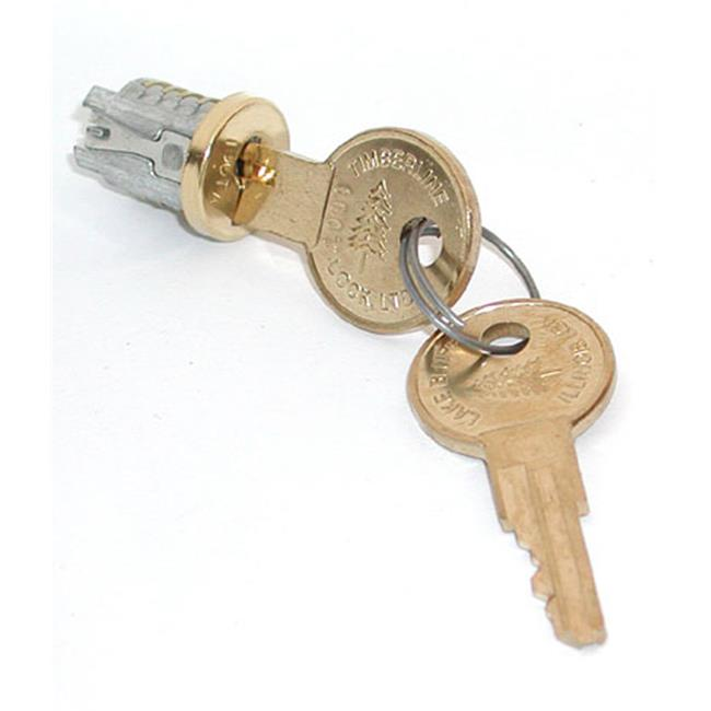 HD TLLP 500 107TA Timberline Lock Plug Brass Keyed Alike - Key Number 107