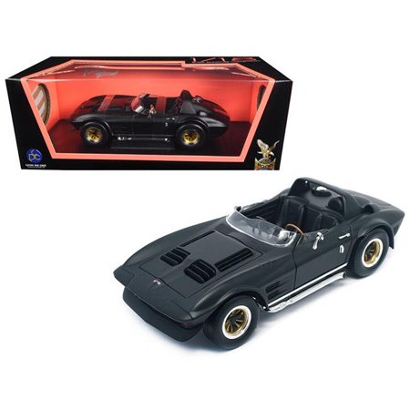 1964 chevrolet corvette grand sport roadster matt black 1/18 diecast model car by road signature