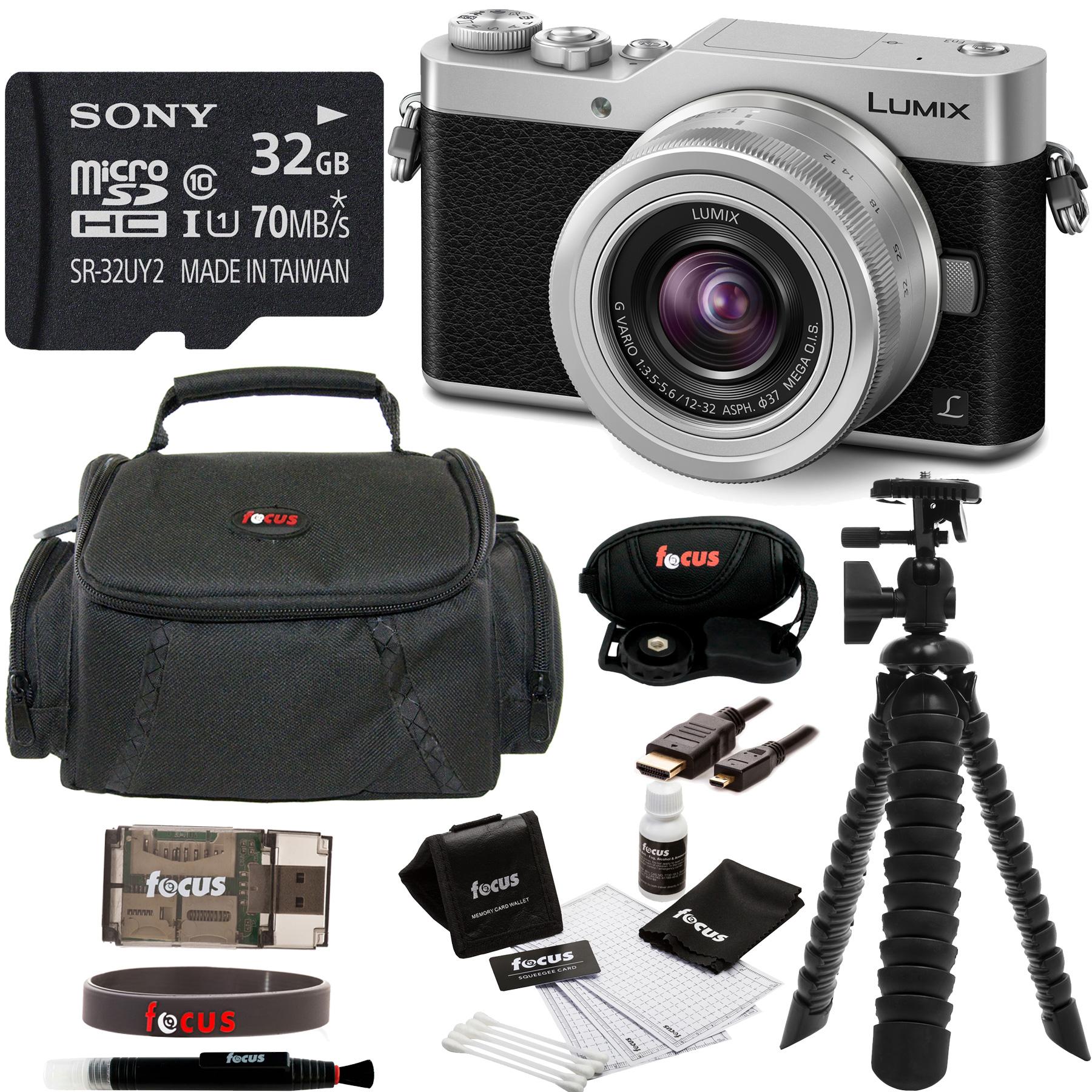 Panasonic DC-GX850KK 4K Mirrorless Camera w/ 12-32mm Mega O.I.S. Lens Bundle