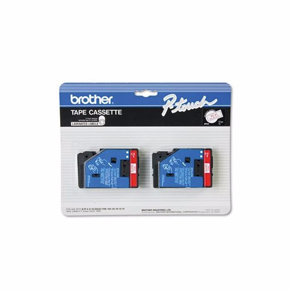 Brother P-Touch TC Series Standard Adhesive Laminated Labeling Tape by