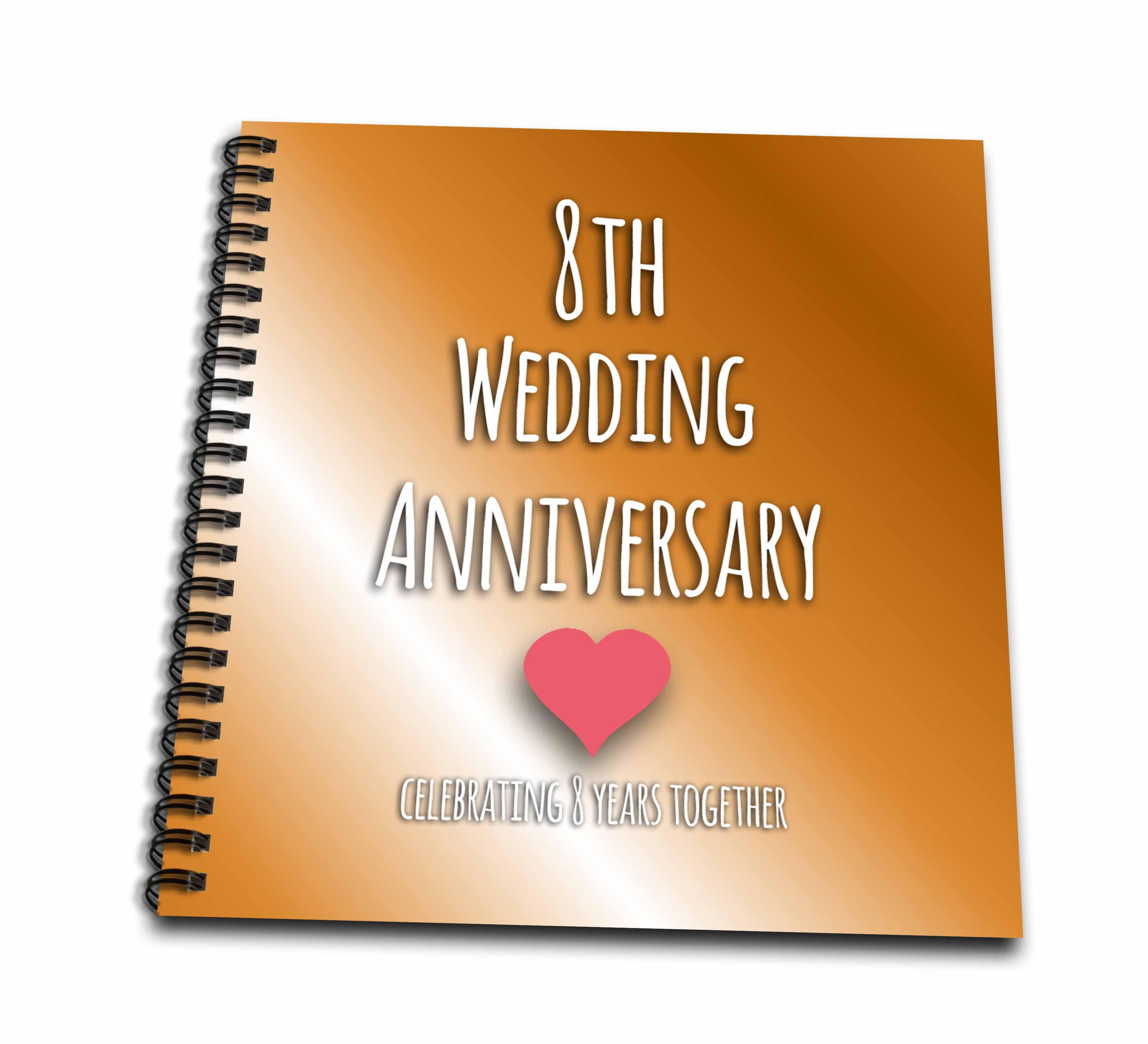 3drose 8th Wedding Anniversary Gift Bronze Celebrating 8 Years Together Eighth Anniversaries Eight Yrs Memory Book 12 By 12 Inch Walmart Com Walmart Com