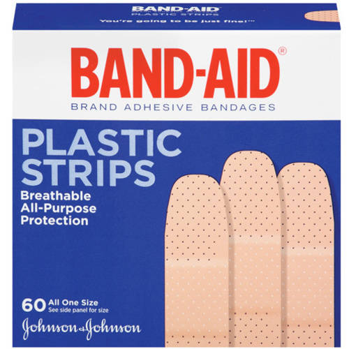 Band-Aid Brand Plastic Strips Adhesive Bandages, 60 count