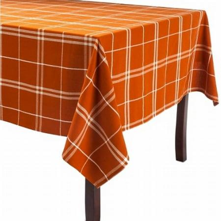 60x84 Fabric Tablecloth - Rich Rust Plaid Tablecloth Fabric Table Cloth 60x84 Oblong