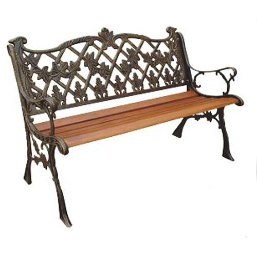 Sicilian Cast Back Park Bench, Bronze