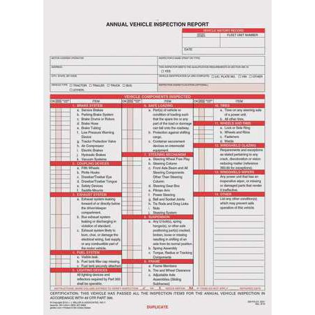 JJ KELLER 200 FS C3 Vehicle Inspection Report W Carbon