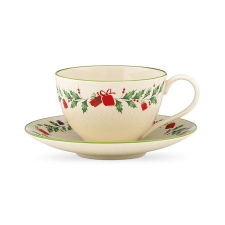Lenox Holiday Gems - Lenox Holiday Inspirations and Illustrations Cup and Saucer Set