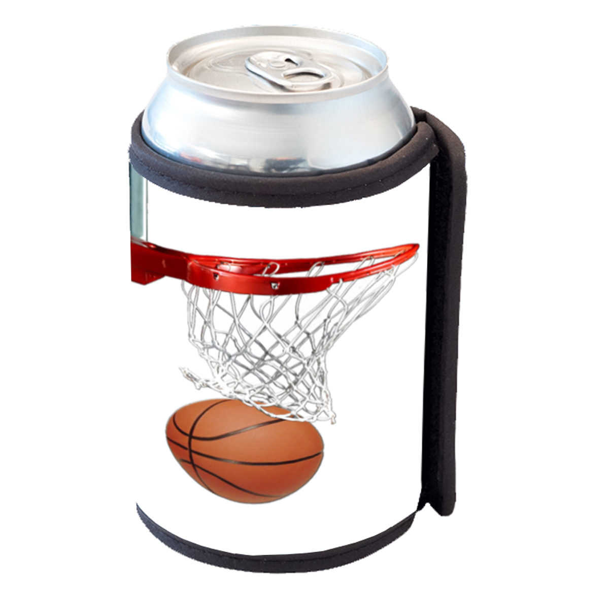 KuzmarK Insulated Drink Can Cooler Hugger - Basketball Hoop Basketball