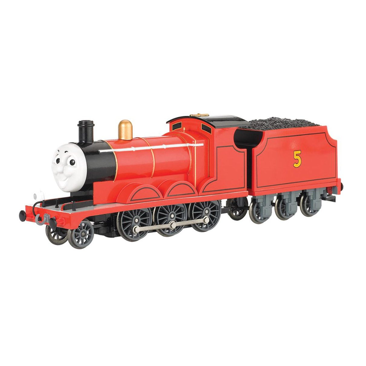 Bachmann Trains Thomas and Friends James The Red Engine Locomotive with Moving Eyes, HO Scale Train