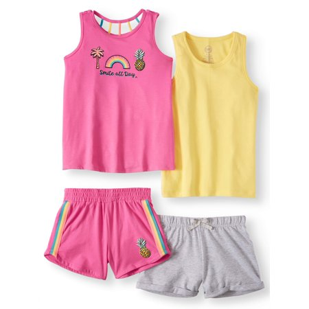 e83ae5b8c68d Wonder Nation - Graphic and Solid Summer Tank Tops and Shorts, 4 ...