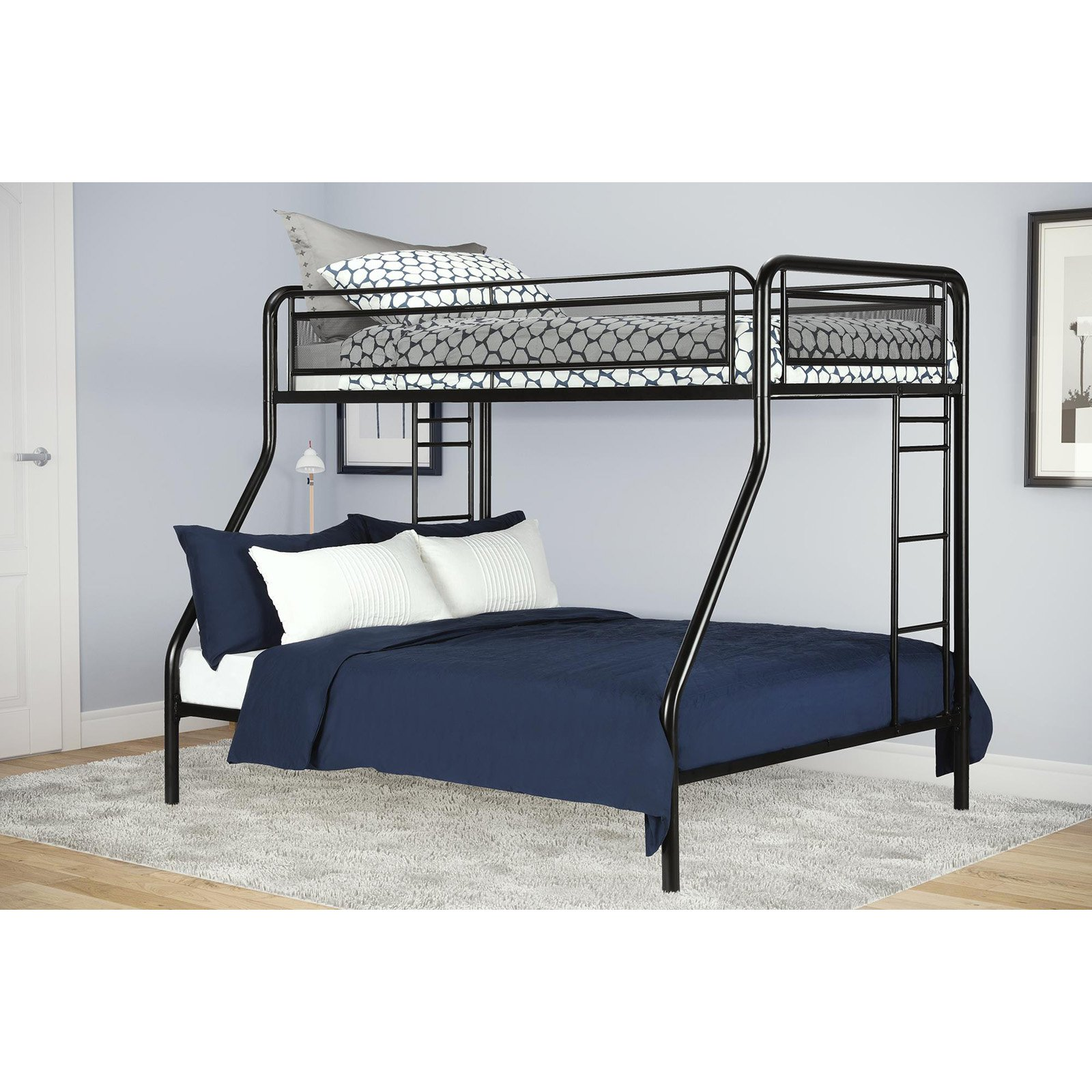 full com amazon kitchen twin over dp atlantic dining furniture columbia with white bunk bed trundle staircase beds