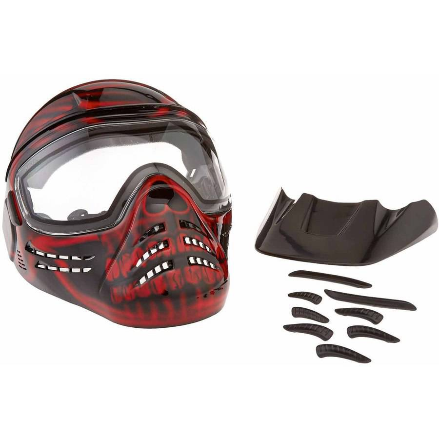 Save Phace Diss Series Diablo Tactical Mask with Red Skull Graphics, Black