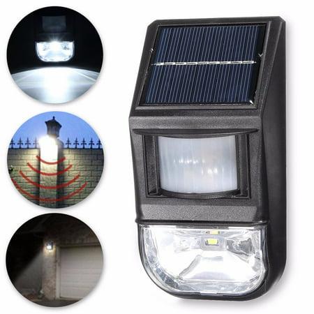 Image of HALLOLURE 10PCS 20 LED Outdoor Solar P owered Motion Sensor Lights, Wireless Wall Lights for Front Door, Back Yard, Driveway, Garage Landscape