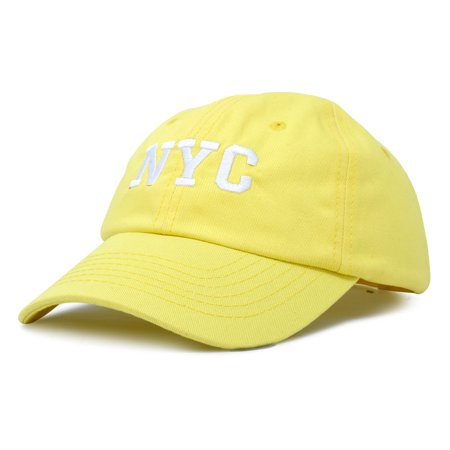 Dalix Ny Baseball Cap Hat New York City Cotton Twill Dad In Minion Yellow