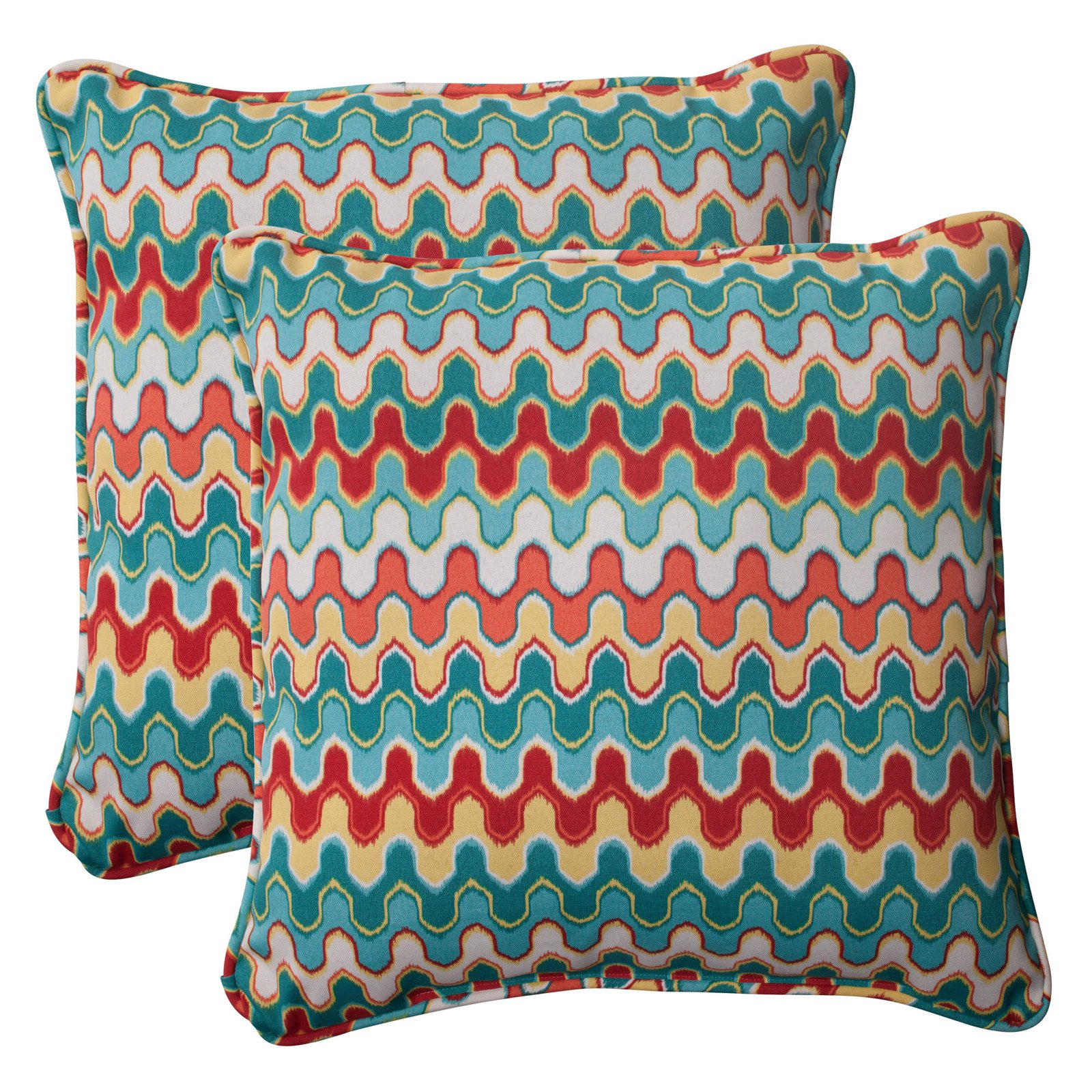 Pillow Perfect Outdoor/ Indoor Nivala Blue 18.5-Inch Throw Pillow (Set of 2)