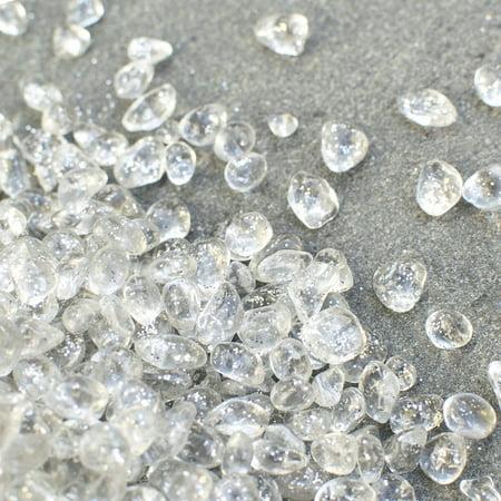 Event Decor Vase Filler 46 Pounds Clear Glass Pebbles Glitter