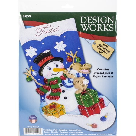 Design Works Felt Stocking Applique Kit 18