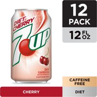 Diet 7UP Cherry Flavored Soda, 12 fl oz cans, 12 pack