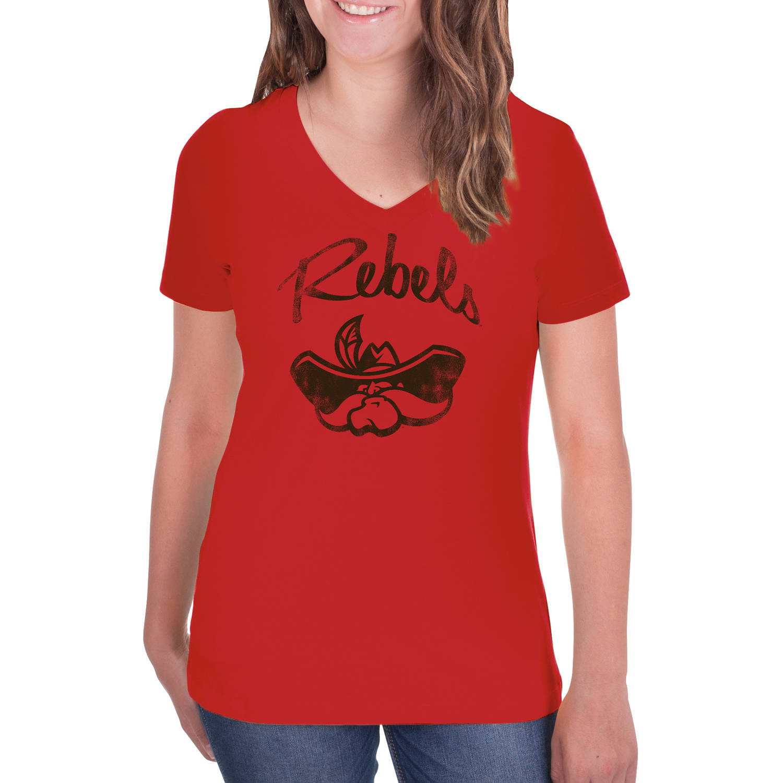 NCAA UNLV Rebels Women's V-Neck Tunic Cotton Tee Shirt