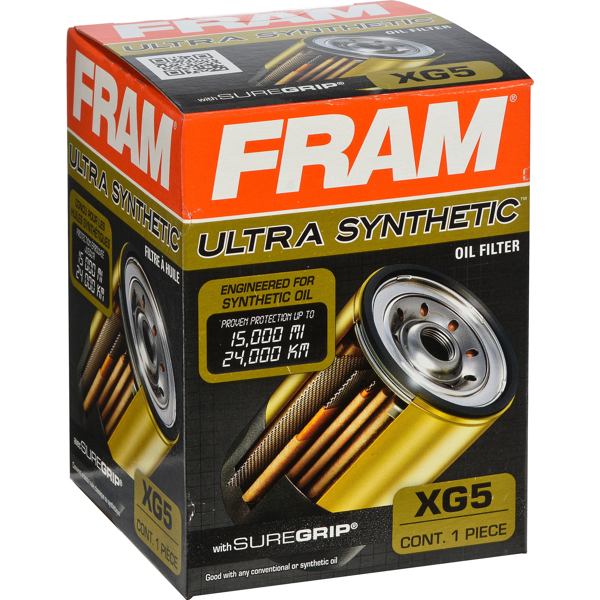 FRAM Ultra Synthetic Oil Filter, XG5