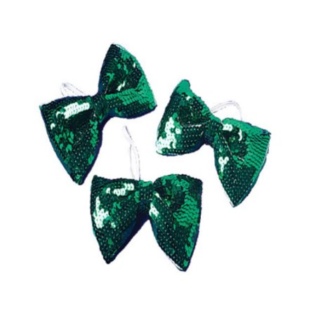St. Patrick's Day Green Sequin Bowtie Bow Tie for Clown or Leprechaun Costume - Saint Patricks Day Costume