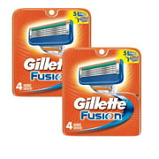 2 Pack Gillette Fusion Pack of 4 Refill Razor Blade Cartridges