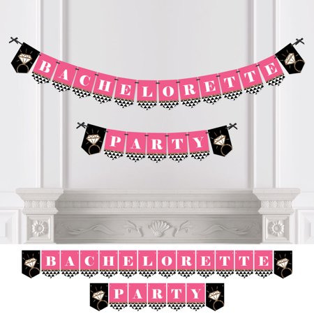 Girls Night Out Decorations (Bachelorette Party - Girls Night Out Bachelorette Party Bunting Banner - Pink Party)