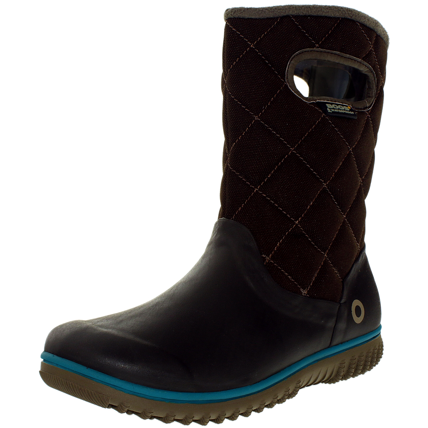 Bogs Women's Juno Mid Chocolate Ankle-High Fabric Rain Bo...