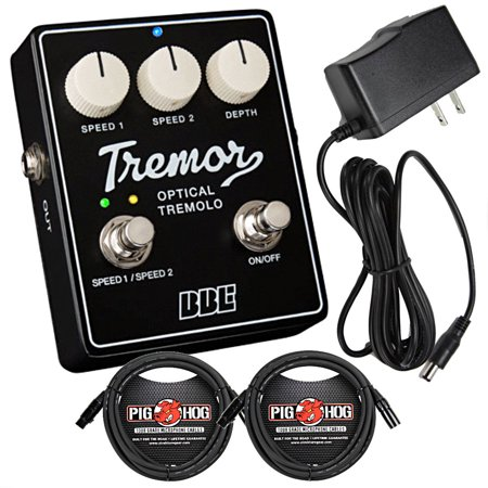 BBE Tremor TR-63B Tremolo Pedal with 2 10' Cables and 9V Power Supply