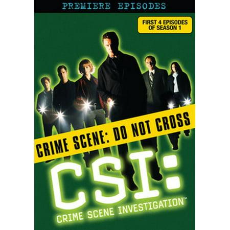 CSI: Premiere Episodes (DVD) - Halloween Episodes Dvd