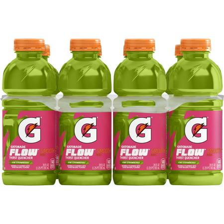 Gatorade Flow Thirst Quencher Sports Drink, Kiwi Strawberry, 20 oz Bottles, 8 Count