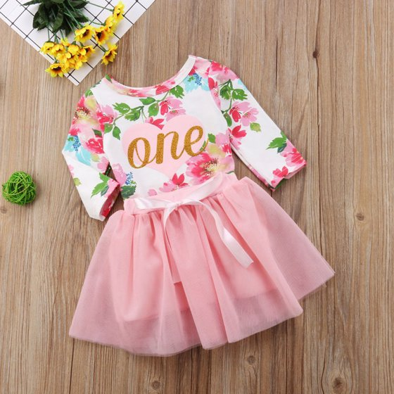969c646387c0 Gaono - Baby Girls 1st Birthday Outfits Long Sleeve Floral Romper ...