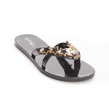 Soho Shoes Women's Star Jelly Flip Flop Sandal