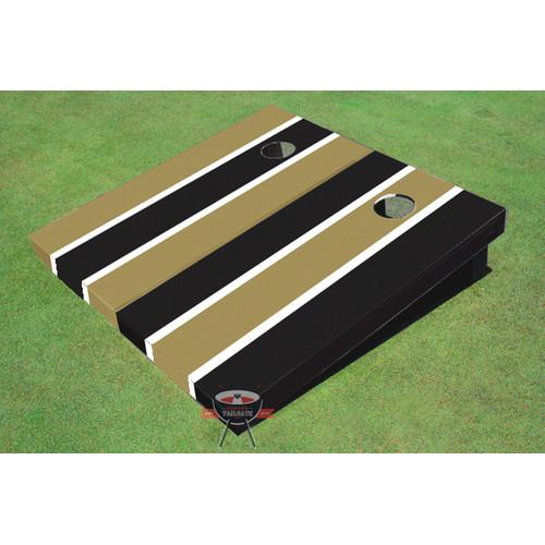 All American Tailgate Alternating Long Stripe Cornhole Board (Set of 2)