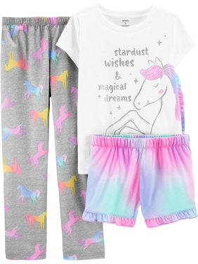 Carters Little Girls 3-pc. Poly Unicorn Pajama Set