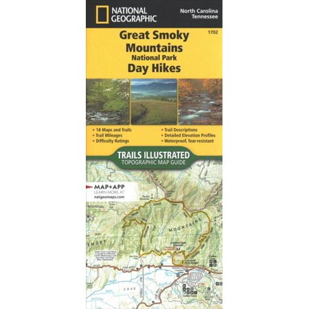 National Geographic Topographic Map Guide 2019 Great Smoky Mountains National Park Day Hikes ()