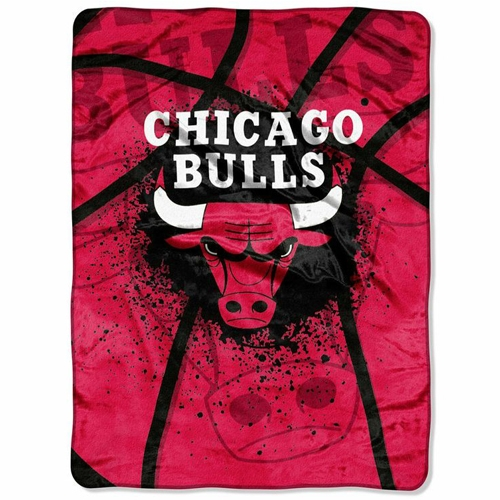 Chicago Bulls 60'' x 80'' Shadow Play Raschel Throw Blanket - No Size