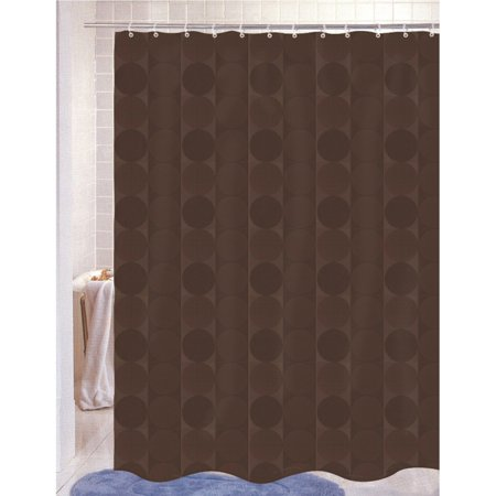 Carnation Home Fashions Jacquard Circle Vertical Stripe Fabric Shower